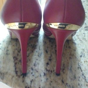 Michael Kors Red Florentine Perforated Pumps 8 1/2